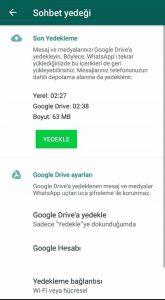 Whatsapp eski mesajları geri getirme