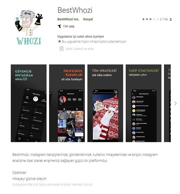 Gizli Profil Görme Bestwhozi Uygulaması